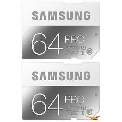 PRO 64GB Class 10 SDXC Memory Card 2-Pack (Up to 90MB/s)