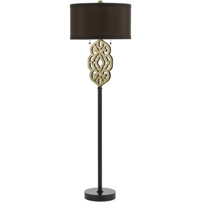 Grill Floor Lamp - Brass - 8424-FL
