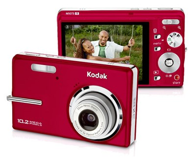 EasyShare M1073 IS 10.2 MP Digital Camera (Red)