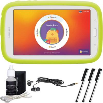 Kids Tab E Lite 7.0` 8GB (Wi-Fi) White with Bumper Case Accessory Bundle