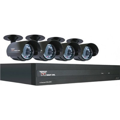 4 Channel STA 500 GB HD DVR with 4 Night Vision Cameras - Factory Refurbished