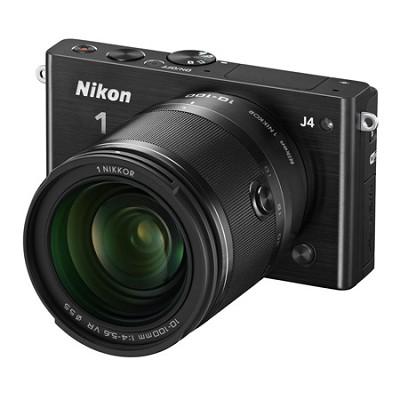 1 J4 Mirrorless Digital Camera with 10-100mm Lens - Black