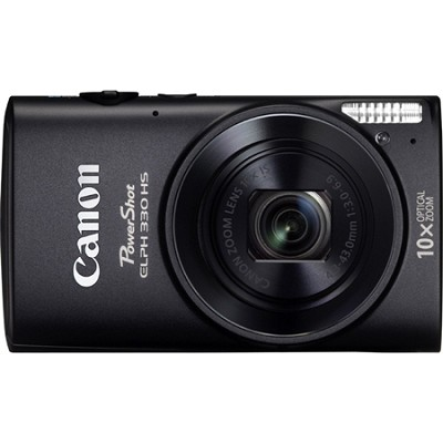 Powershot ELPH 330 HS Black 12.1MP Digital Camera with 10x Opt. Zoom and Wi-Fi