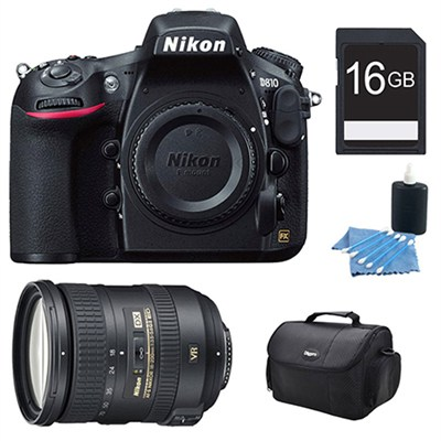 D810 36.3MP 1080p HD DSLR Camera and AF-S DX NIKKOR 18-200mm Lens Kit
