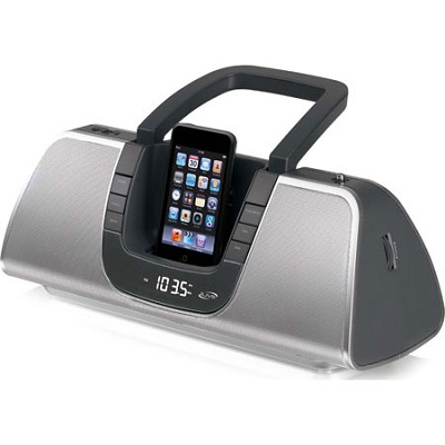 IB209 Portable Speaker System with AM/FM Radio and iPod Dock (Black)