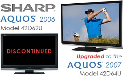 LC-42D62U - AQUOS 42` High-definition 1080p LCD TV (upgraded to the LC-42D64U)