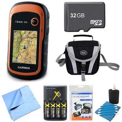 010-01508-00 - eTrex 20x Handheld GPS 32GB Micro SD Memory Card Bundle