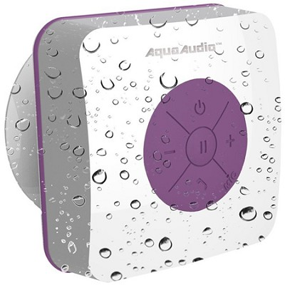 AQUACUBE Water Resistant Shower Speaker w/ Suction Cup (Purple) UG-AQUACUBE-PRP