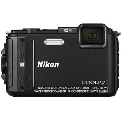 COOLPIX AW130 16MP 1080p Waterproof Black Digital Camera - Refurbished