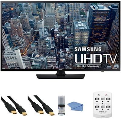 UN65JU6400 - 65-Inch 4K Ultra HD Smart LED HDTV + Hookup Kit