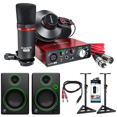 Scarlett Solo USB Audio Interface and Recording Kit + Speaker Bundle