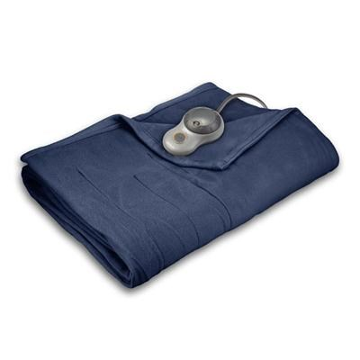 Quilted Fleece Heated Blanket with EasySet Pro Controller - Full (Lagoon)