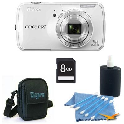 COOLPIX S800c 16MP 3.5 inch LED White Digital Camera Kit