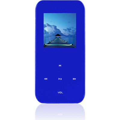 4 GB MP3 Video Player with 1.5` LCD, FM Radio, Recorder (Blue)