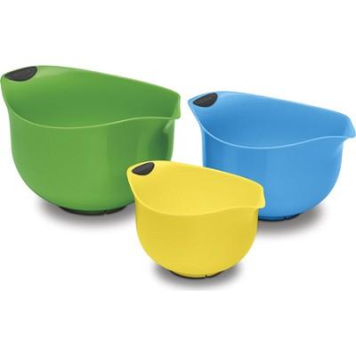 Set of 3 Multi Colored BPA-free Mixing Bowls (CTG-00-3MBM)