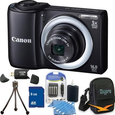 PowerShot A810 16MP Black Digital Camera Bundle Deal