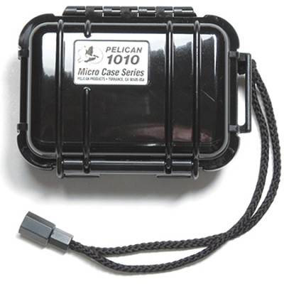 1010 Micro Case with Clear Lid and Carabineer (Black)