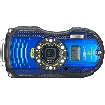 WG-4 GPS 16MP HD 1080p Waterproof Digital Camera - Blue