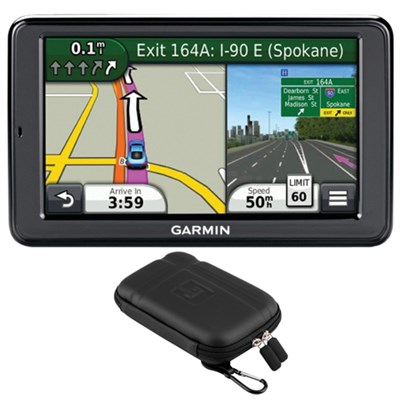 nuvi 5` GPS with Lifetime Map & Traffic Updates + Garmin Case