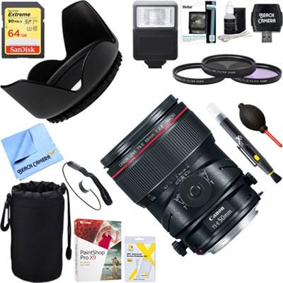 TS-E 50mm f/2.8L Macro Tilt-Shift EF-Mount Lens + 64GB Ultimate Kit