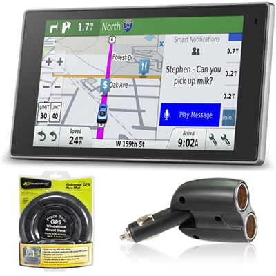 010-01531-00 DriveLuxe 50LMTHD GPS Navigator Charger + Friction Mount Bundle