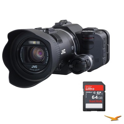 GC-PX100 Full1080p HD Everio Camcorder with 64GB Memory Card Bundle