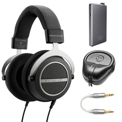 Amiron Home Tesla High-End Headphones 250 OHM w/ Amplifier Bundle