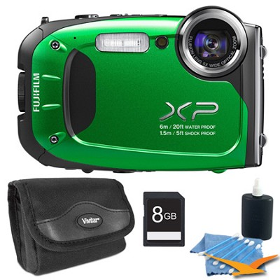FinePix XP60 16 MP Waterproof Shockproof Freezeproof Digital Camera Green Kit