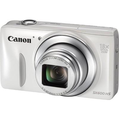 PowerShot SX600 HS 16.1MP 18x Zoom 3-inch LCD - White