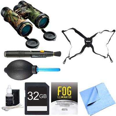 16007 Monarch 3 Extra Green Binoculars 10x42 Adventure Bundle