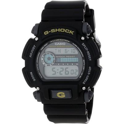 G-Shock Shock/Water Resistant Black Digital Watch & Resin Band