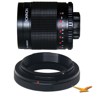 500M - 500mm f/8.0 Mirror Lens for Olympus / Panasonic