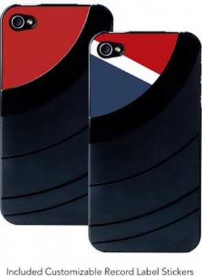 Vintage Vinyl Record for iPhone 4 (Black)