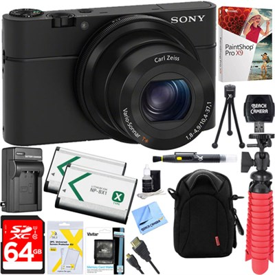Cyber-Shot DSC-RX100 Digital Camera + 64GB Dual Battery Accessory Kit