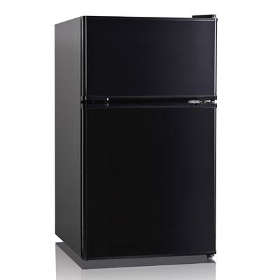 3.5 Cubic Feet Double Door Compact Refrigerator in Black - WHD127FB1