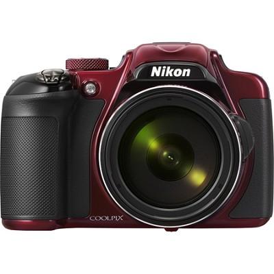 COOLPIX P600 16.1MP Digital Camera - Red