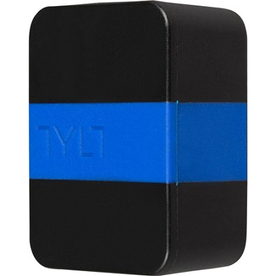 WALL - 4.2A Travel Charger for Universal USB - Black/Blue