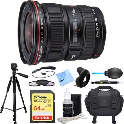 EF 17-40mm F/4 L USM Lens Deluxe Accessory Bundle