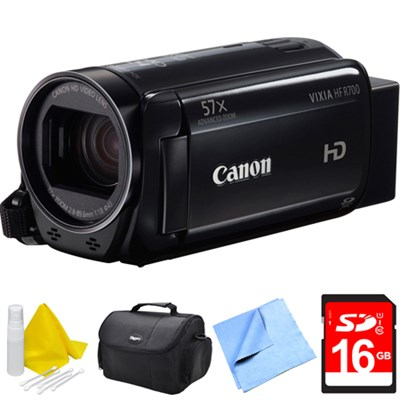 VIXIA HF R700 Full HD Black Camcorder Bundle - Black