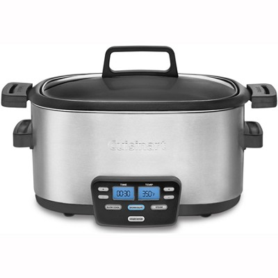 3-In-1 Cook Central Multi-Cooker Slow Cooker Steamer - MSC-600