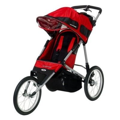 Free Runner ST Jogging Stroller (Red/Black)