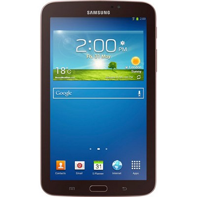 Galaxy Tab 3 7.0` Gold-Brown 8GB Tablet - Manufacturer Refurbished
