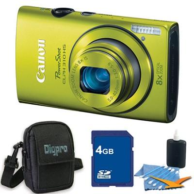 PowerShot ELPH 310 HS 12MP Green Digital Camera 4GB Bundle