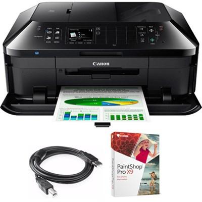 PIXMA MX922 Wireless Inkjet Office All-In-One Printer w/Paint Shop Bundle