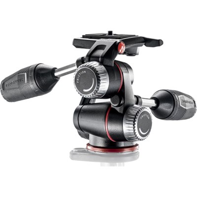 X-PRO 3-Way Head with Retractable Levers/Friction Controls - Black - OPEN BOX