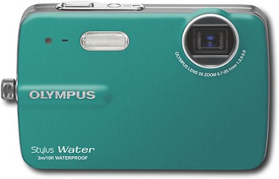 Stylus 550 10MP Waterproof Digital Camera (Teal) - REFURBISHED