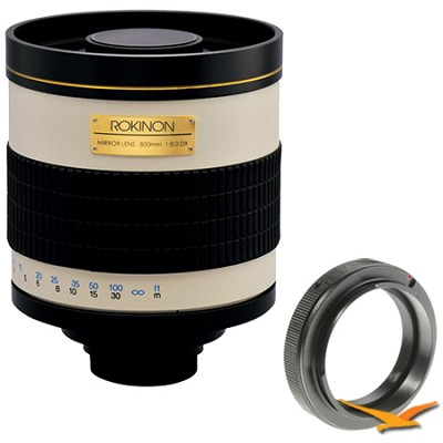 800mm F8.0 Mirror Lens for Nikon (White Body) - 800M