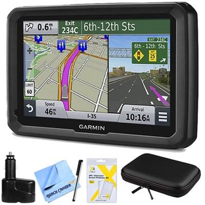 dezl 570LMT 5` Truck GPS Navigation System w Lifetime Map Traffic Updates Bundle