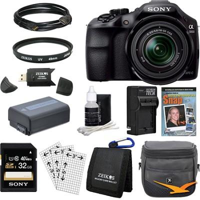 a3000 Interchangeable Lens Digital 20.1MP Camera Essentials Bundle