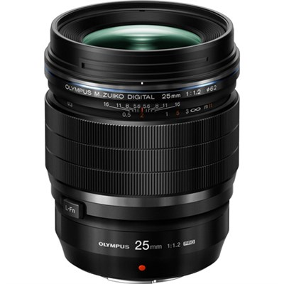 M.Zuiko Digital ED Weatherproof 25mm F1.2 PRO Black Lens - OPEN BOX